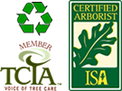TCIA Member, ISA Certified Arborist, We Recycle