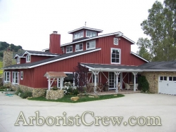 This barn in Ventura County looks even better with professional landscaping.