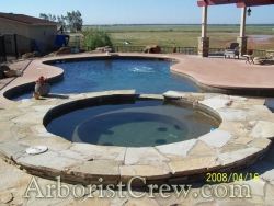 Pool and spa with landscaping features in Camarillo, California